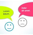 conversation background with faces in vector image