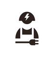 Electrician icon vector image
