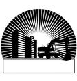Excavator in the sun vector image