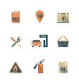 Fuel Pump Icons Set vector image