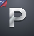 parking icon symbol 3D style Trendy modern design vector image