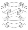 ribbon banners hand drawn sketch vector image