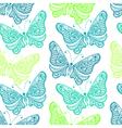 Zentangle stylized sea Butterfly seamless pattern vector image