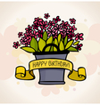 birthday card with flower vector image vector image
