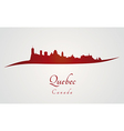 Quebec skyline in red vector image vector image