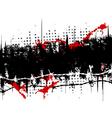 grunge stripe vector image
