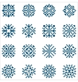 set of pixel snowflakes for patterns vector image vector image