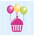 celebration party icon design vector image