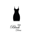Little Black Dress - design element vector image vector image