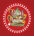 Merry christmas print vector image