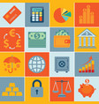 finance icons set infographics vector image