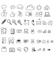 hand drawing web icon vector image