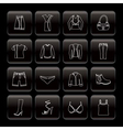 line clothing and dress icons vector image