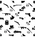 mafia criminal black symbols and icons seamless vector image