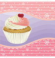 cupcake and a wallpaper vector image vector image