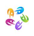 Teamwork fitness logo vector image vector image