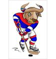 Buffalo - the hockey player vector image