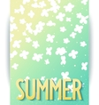 Hello summer abstract poster vector image