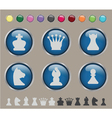 Button chess vector image vector image