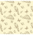 Seamless pattern animals contours vector image