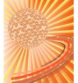 disco ball with waves illustration vector image