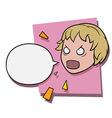 angry shouting girl vector image
