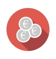 Silver coins flat icon vector image