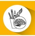 accessories brain school knowledge vector image