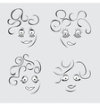 Cartoon fanny person vector image