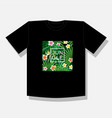 jungle logo to print t shirts vector image
