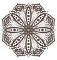 mandala5 brown vector image