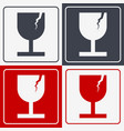 set of four fragile icon fragile symbol for vector image