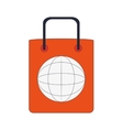 shopping bag global icon vector image