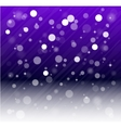 Whte snow bokeh blue background vector image