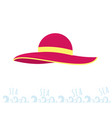 women beach pink hat summer time rest on the sea vector image