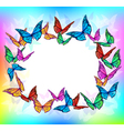 Bright butterfly blank frame vector image vector image