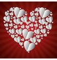 beautiful hearts form big heart vector image