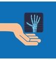 hands x-ray hand medicine icon vector image