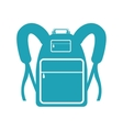 backpack pictogram icon image vector image