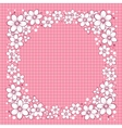 Striped Greeting Card with Flowers vector image vector image