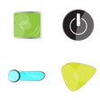 set of web buttons vector image