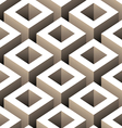 abstract boxes 3d seamless pattern vector image vector image