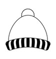 knit winter hat icon image vector image