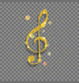 big shiny treble clef vector image