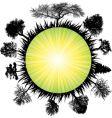 solar earth tree vector image vector image