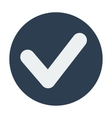 Single check mark icon Flat design vector image