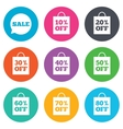 Sale discounts icons Special offer signs vector image