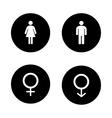 Wc entrance black icons set vector image