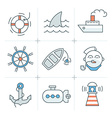 Nautical Icons Collection vector image vector image