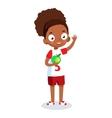 African American school girl cartoon vector image